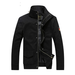 Wholesale Large Collar Jacket Mens - Mens Casual Jacket Cotton Coat Spring Autumn Clothes Outwear Overcoat Male Jeans Large Size Brand Clothing 2017 Cheapest Newest
