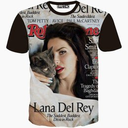 Wholesale Lana Del Rey T Shirt - Lana Del Rey T shirt Hottest magazine short sleeve gown Singer 1991Inc design tees Street printing clothing Unisex cotton Tshirt