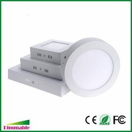 Wholesale Downlight Inch - Dimmabel 6W 12W 18W 24W Surface Mounted Round Square LED Panel Light 5-7-9-12 Inch Dimmable LED Ceiling Lights Downlight