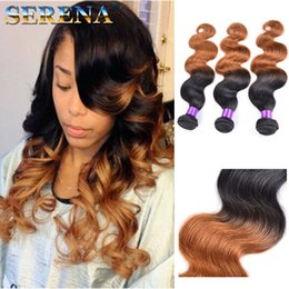 Wholesale Cheap Real Human Hair Weaves - 1B 30 Brazilian Body Wave Ombre Hairs Extensions 7A Unprocessed Hair Real Human Hair Extensions Cheap Hairs Extensions Ombre Hair Weave