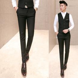 Wholesale Formal Clothes Men - Wholesale- New arrival 2016 business casual solid color suit pants men formal dress slim pants pantalon homme men's clothing size 28-40 XK3