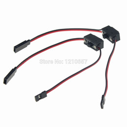 Wholesale Power Switch Rc - Wholesale- 5PCS lot Power on off switch with JR FUTABA Receiver cord for RC Boat Car Flight two way
