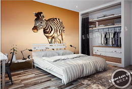 Wholesale Animal House Wallpaper - Custom papel de parede Desert Run Wild Zebra Animals murals wallpaper living room
