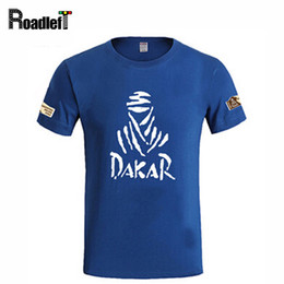Wholesale Wholesale Hooded T Shirts - Wholesale- The Paris Dakar motorcycle Rally Commemorative T-shirt Men brand casual cotton t shirts Men's summer short sleeve printed Tee