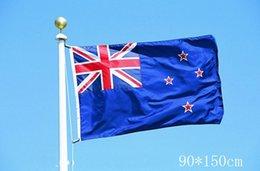 bandiere della nazione Sconti New Zealand National Flags 90 * 150 cm 3 * 5ft NZ Paese Banner Polyester Fiber Nation Oriflamme Bandiera Blu Per Parade Festival 6qtc R