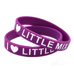 Wholesale I Love Mix Gift - Wholesale Shipping 100PCS Lot I Love Little Mix Silicon Wristband Ink Filled Colour Logo, Perfect To Use In Any Benefits Gift