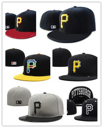 Wholesale Mlb Fitted - Newest Arrival MLB Embroidered Pittsburgh Pirates Baseball Fitted cap for men, women Hat with sun protection & wicks away sweat