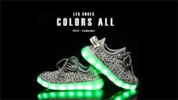 Wholesale Coconut Lights - Children's luminous coconut shoes USB rechargeable lights shoes led luminous luminous autumn ventilation children's shoes 6 colors 12