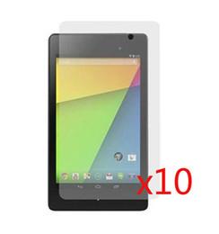 "Wholesale Google Nexus Screen - Wholesale- 10pcs lot LCD Clear Screen Protector Films Protective Film Guards For Google Nexus 7 II 2nd 2gen 2013 7"" Tablet"