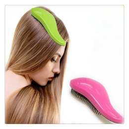 mango mágico Rebajas Magic Hair Brush Magic Combs Cepillos para el Cabello Magia Detangling Mango Tangle Shower Hair Brush Peine Salon Styling Tamer Tool Envío Gratis