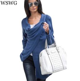 Wholesale Long Sleeve Casual Shrugs - Wholesale-Sweaters New Fashion 2017 Autumn Chothing Winter Shrug Sweater Loose Sexy Cardigan Women Plus Size Fall Oversized Cardigan 60247