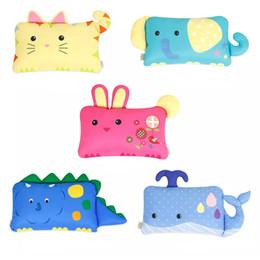 Wholesale Kapok Pillows - Cartoon Cute Baby Infant Toddle Children Pillow Pillowcase Cushion Protectors Dust Mite & Anti Allergy Polar Spun Yarn Fabric
