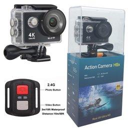 Wholesale Control Lens - Ultra HD 4K 30FPS Action Camera EKEN H9X 2.4G Remote Control 30M Waterproof 1080P 60FPS 170 Degree Lens Wifi Sports DV