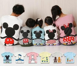Wholesale Mother Son Clothes - Summer family clothing Cotton family matching outfits cartoon matching mother daughter clothes family look mother son outfits