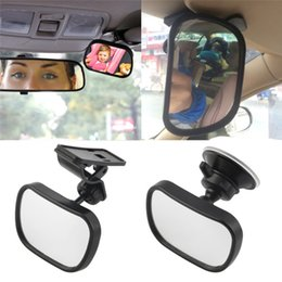 Wholesale Back View Mirror - Car Back Seat Safety View Mirror Baby Rear Ward Facing Car Interior Baby Kids Monitor Safety Reverse Safety Seats Basket Mirror