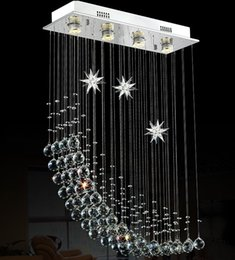 Wholesale moon light chandelier - Foyer bedroom living dinning crystal light lamp vintage half moon oblong rectangular crystal chandelier light lamp LLFA