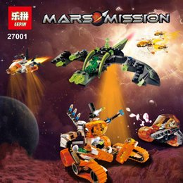 Wholesale Space Model Toys - Mar Mission Space Series LEPIN 27001 655Pcs The Mt 101 Amoured Drilling Set Educational Building Blocks Bricks Toys Child Model