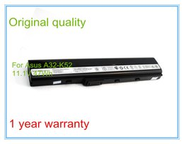 Wholesale Asus K52je - Wholesale-4400mAh Original Laptop Battery A32-K52 for A52F A52J K52D K52DR K52F K52J K52JC K52JE K52N X52J A31-K52 A41-K52 6CELL