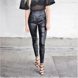 Wholesale Black Leggings Pockets - Autumn black thin pencil Leggings pants capris Fashion streetwear casual summer pants leggings High waist pocket zipper pants trousers New