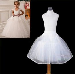 Wholesale Kids Girl Dress Bride - 2017 New Children Petticoats Wedding Bride Accessories Little Girls Crinoline White Kid Long Flower Girl Formal Dress Underskirt