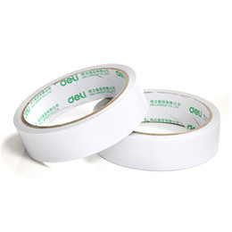Wholesale Double Side Sticky Tape - Wholesale- 2016 2 Pcs lot 36mm x 10y   36mm x 9.1m Double-Sided Tape White Strong Sticky Glue Tape Powerful Doubles Faced Adhesive For Off
