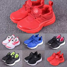 Wholesale Baby Train - Blue Cute Baby Air Presto Running Shoes Children Athletic Shoes Boys Girls Training Sneaker Kids Sports Shoes Grey Black Red Pink