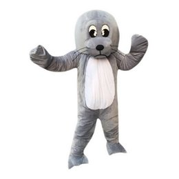 Wholesale Adult Sea Costume - Sea lion Mascot Costumes Cartoon Character Adult Sz 100% Real Picture 002