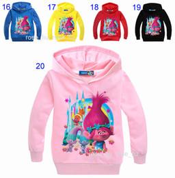 d9ce10d00 Free DHL 34 Style Boys girls Trolls Hoodies Sweatshirts 2017 New children  Long sleeve cotton Hoodie jacket kids coat 2-9years B