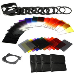 Wholesale Square Filter Holder - 40in1 Full kit ND2 4 8 16+Color Square filter kit for Cokin P+filter Holder+Hood ND Filter Kit For Cokin P Ring Series Camera