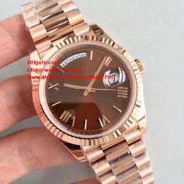 Wholesale Gold President Watch - 3 Color Best Edition Watch NOOB Factory 40mm Day Date President 228235 Roman Dial Rose Gold Swiss CAL.3255 Movement Automatic Mens Watches