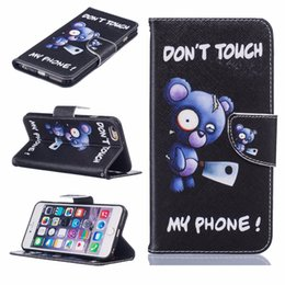 Wholesale Lovely Iphone Wallet Cases - For Samsung Galaxy S6 S7 Fashion Flip Leather Art Print PU Case Wallet Lovely Pattern Card Insert Stand Cover For iPhone 6G 7G