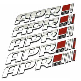 Wholesale golf logo badges - ABS APR STAGE 1+ 2+ 3+ Racing Car Emblem Badge APR STARGE 1 2 3 Plus 3D Sticker Badge Auto Exterior Logo Decoration for VW GOLF POLO CC