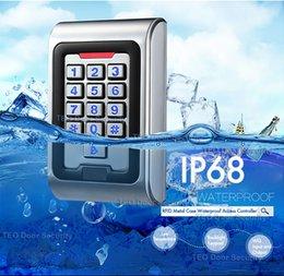 controle de acesso da porta do cartão inteligente Desconto À Prova D 'Água IP68 RFID Controlador de Acesso Da Porta Do Cartão Com Wiegand 26 Saída De Trabalho Tensão DC9V a 28V Backlight Chaves de Metal Acesso