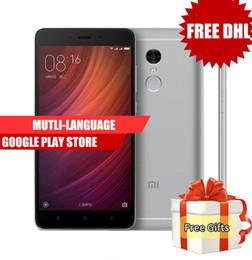 Wholesale Micro Usb 64gb - Dhl Free Original Xiaomi Redmi Note 4 Pro 4G LTE Touch ID Helio X20 RAM 3G ROM 64G Deca Core Android 6.0 5.7 inch 1080P FHD Smartphone