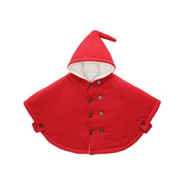 Wholesale Baby Double Breasted Coats - Unisex Halloween Costumes For Kids Three Colors Wedding Coat For 0-3 Years Baby Cute Pattern Children Cloak In Stock