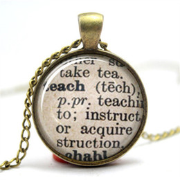 Wholesale 10PCS Teach Dictionary Definition Teacher Necklace