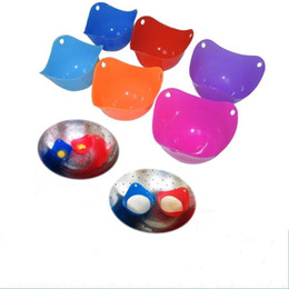 Wholesale Egg Boilers - Easy To Clean Eggs Boilers Steamer Silicone Egg Holder Poachers Tray Non Toxic Poacher Omelette Tools Eco Friendly 1 5hy AR