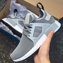 Wholesale Cream Coloured Boots - 2017 NMD Runner Primeknit XR1 running shoes top multiple Colour man women shoes zebra stripes red blue sport shoes Runings nmd R1 sneaker