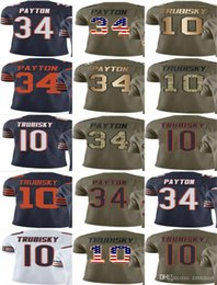 Wholesale Chicago Bear - BEARS CHICAGO #10 Mitchell Trubisky #34 Walter Payton Men Women Youth Vapor Untouchable 2017 Salute to Service Custom Football Jersey