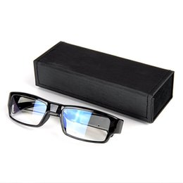 Wholesale Glass Spy Camera - New 1920*1080P HD Spy Camera Without Hole Fashion Frame Glasses Surveillance DVR Hidden Camera Videos Recorder Eyewear Cam Mini DV