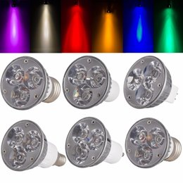 Wholesale E12 Mr16 - High Quality Non-Dimmable LED Spotlight GU10 B22 E27 E14 E12 B15 GU5.3 Down Lights 6W Bulbs DC 12V 8 Colorful Led Lampada 1PCS