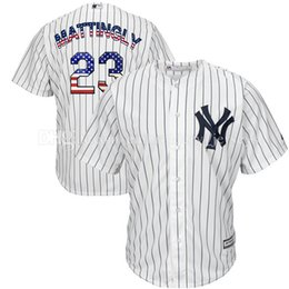 Wholesale Man United Flags - Men's New York Yankees #23 Don Mattingly Baseball Jerseys Majestic Flag of the United States Alternate Cool Base Jersey Embroidery Logos
