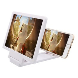 Wholesale Wholesale Video Lighting - Mobile phone screen magnifier Hd 3 d video eyecare magnifying glass desktop lazy mobile scaffold Light artifact