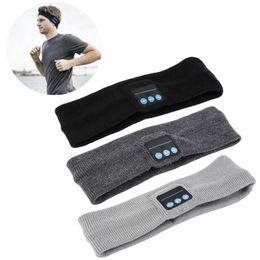 Wholesale Headset Decorations - NEWEST Bluetooth Music Headband Stereo Wireless Headset Mens Womens Sports Running Fitness Yoga Stretch Head Wrap Caps