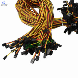 Wholesale Fan Pin - Wholesale- 10pcs lot Connector 3 Pin Male to 3 Pin Female Power Extension Cable Black Extending 60cm For PC Computer Cooling Fan