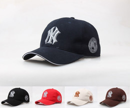 Wholesale 3d letter snapback - Baseball Cap Unisex Sport casquette bone 3D embroidered Letter Design Hats Sunscreen NY logo cap trucker hat snapback hip hop