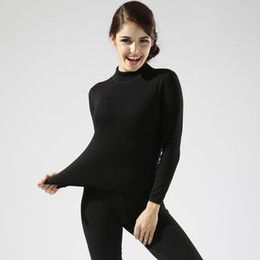 Wholesale Thick Thermal Underwear Velvet - Wholesale- Plus Size M-XXL Women winter thermal underwear suit thick velvet ladies thermal underwear women clothing female long johns