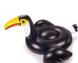 Wholesale Inflatable Mount - NEW Summer Hot Fashion Water inflatable mount floating bed Swimming pool ring 2.65m duck flamingo toucan High-quality free shipping