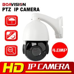 Wholesale Ptz Ip Speed - 4 inch HD 4MP Mini PTZ IP Camera Outdoor Network Onvif Speed Dome 30x Optical Zoom IP PTZ Camera CCTV 50m IR Night Vision