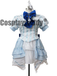 Wholesale Megurine Luka Costumes - Vocaloid 2 Miss Germany Megurine Luka Blue Lolita Outfit Cosplay Costume